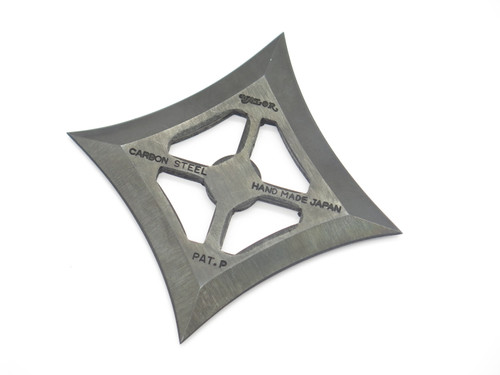 Vintage 1970s-80s Valor Negoro Ninja Seki Japan Tak Fukuta Custom Handmade Carbon Steel 4 Point Throwing Star