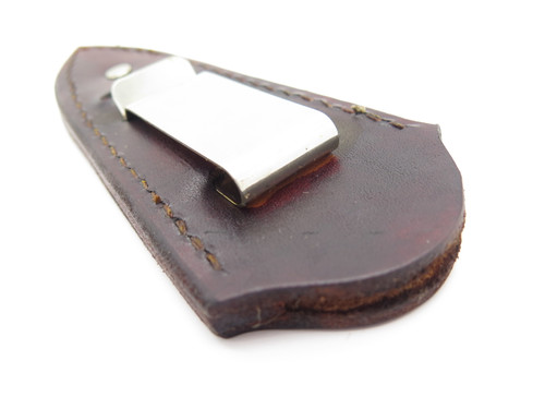 "Custom USA Brown Leather Fixed 3"" Blade Dagger Knife Boot Belt Clip Sheath"
