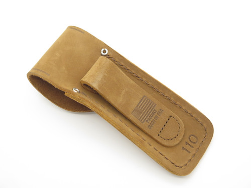 Buck 110 426 Bucklite Brown Distressed Leather Folding Hunter Knife Sheath