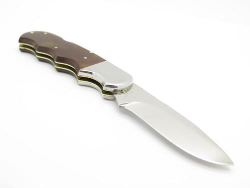"Vtg 1970s Rhino Magnum Seizo Imai Seki Japan 4.5"" Folding Hunter Lockback Knife"