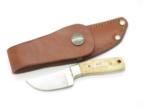 Vtg Parker Prototype Mini Seki Japan Bone Stainless Fixed Blade Knife And Sheath
