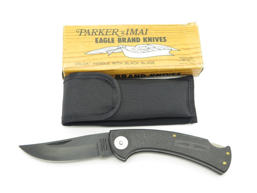 Vtg Parker Eagle Brand Imai K-115 Seki Japan Valox Black Folding Hunter Knife