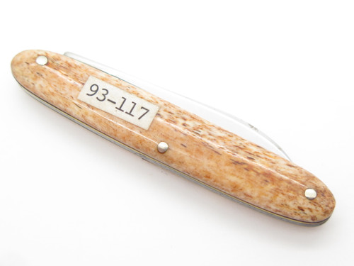 Vtg Explorer Seizo Imai Seki Japan 93-117 Smooth Bone Small Folding Pocket Knife