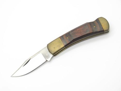 """Vtg Parker Seizo Imai Seki Japan Wood 3.5"""" Folding Hunter Lockback Pocket Knife"""