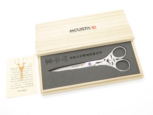 Mcusta Knives 170D Mt Fuji Seki Japan Limited VG-10 San Mai Damascus Scissors