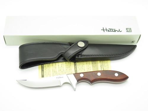 Vtg NOS 1990s Hattori 1030 Seki Japan Cocobolo Fixed Blade Upswept Hunting Knife