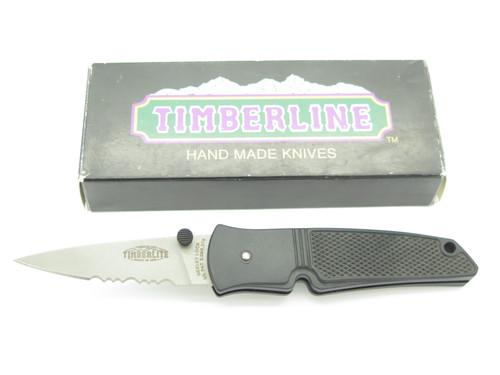 "Vtg '90s Timberline USA Timberlite Neeley Lock 4"" Serrated Folding Pocket Knife"