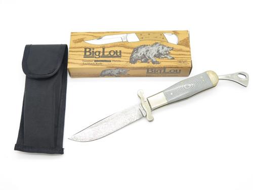 Vtg 1982-85 Parker & Son K418 Seki Japan Micarta Damascus Folding Safety Knife