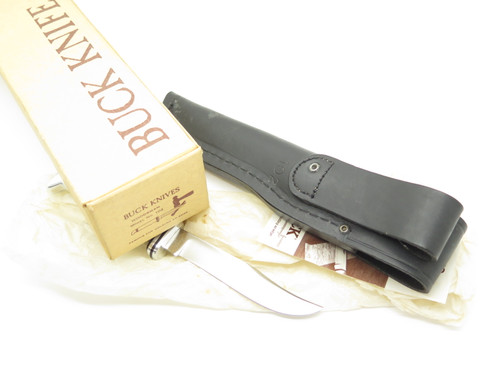 VTG 1970s BUCK USA 102 WOODSMAN SMALL PHENOLIC FIXED BLADE HUNTING KNIFE IN BOX