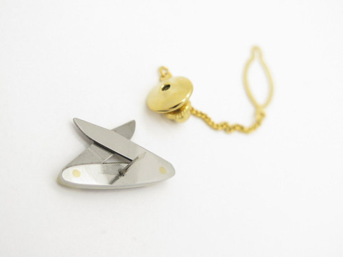 Vtg Parker Eagle Seki Japan Tie Tack Abolone Miniature Folding Pocket Knife