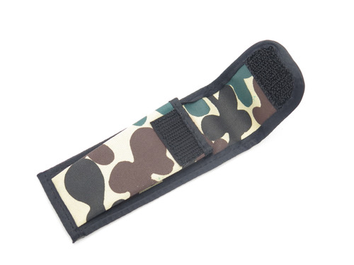 "Vtg 80s Parker Imai Japan Camo Nylon 4.25"" Folding Hunter Lockback Knife Sheath"