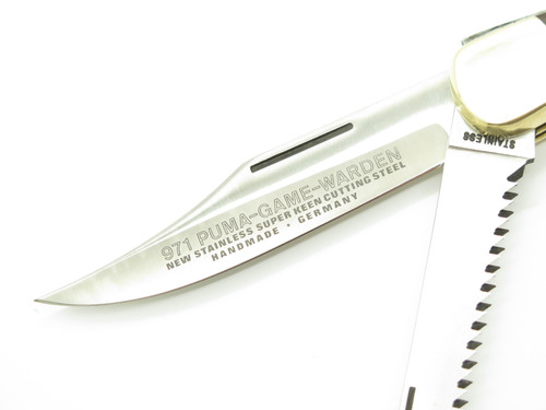 Vtg 1982 Puma 971 Game Warden Solingen Germany Saw Folding Hunter Lockback Knife