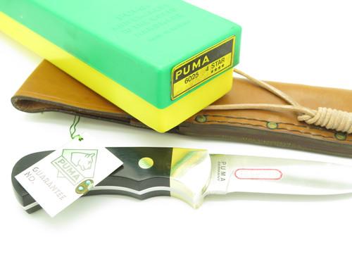 Vtg 1981 Puma 6025 Nicker Solingen Germany 4 Star Fixed Blade Hunting Knife