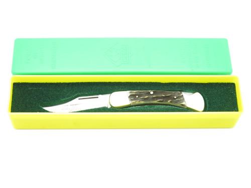 VTG 1982 PUMA 900 EARL GERMANY STAG FOLDING HUNTER LOCKBACK POCKET KNIFE