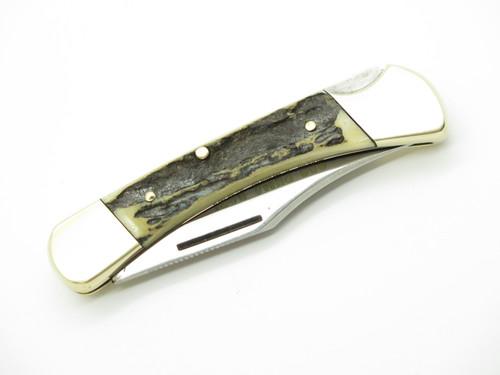 Vtg 1978 Puma 900 Earl Solingen Germany Stag Folding Lockback Pocket Knife