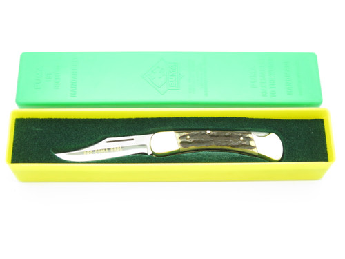 Vtg '82 Puma 900 Earl Solingen Germany Stag Folding Hunter Lockback Pocket Knife