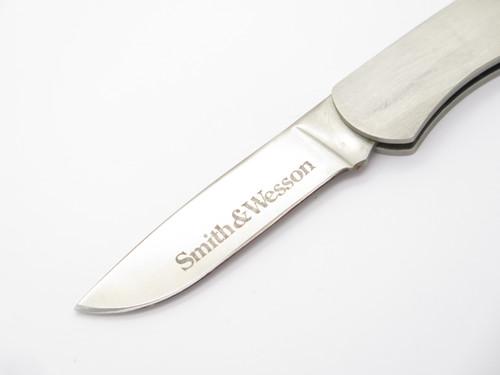 Vtg Smith & Wesson USA 6064 Stainless Gentleman Folding Lockback Pocket Knife