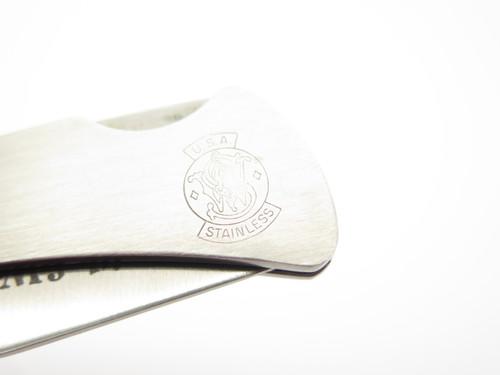 Vtg Smith & Wesson USA 6063 Stainless Clip Blade Folding Lockback Pocket Knife