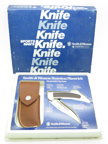 VTG SMITH & WESSON USA 6061 STAINLESS FOLDING HUNTER LOCKBACK KNIFE WITH SHEATH