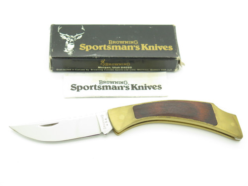 VTG 1980 BROWNING USA SPORTSMAN 2518F15 TRACKER FOLDING LOCKBACK POCKET KNIFE