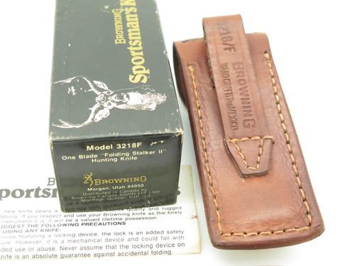 Vtg 1980 Browning Germany Sportsman 3218F Folding Hunter Lockback Knife