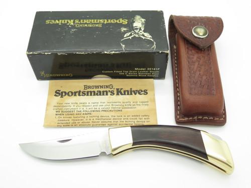 "VTG 1980 BROWNING USA SPORTSMAN 35181F 4"" FOLDING HUNTER LOCKBACK KNIFE IN BOX"