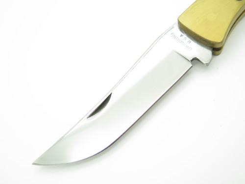 Vtg 1980 Browning USA Sportsman 3818F10 Tracker Folding Hunter Lockback Knife