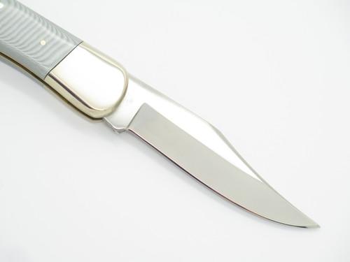 """Vtg NOS 1980s German Rostfrei 4.25"""" Deer Hunter Folding Lockback Knife"""