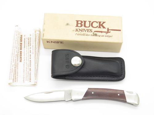 Vtg 1970s-80s Buck 501 Esquire Squire Script Folding Lockback Pocket Knife