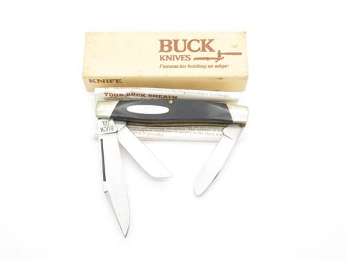Vintage 1970s-80s Buck 301 Stockman 3 Blade Folding Pocket Knife