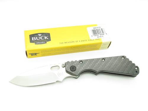 Custom Leroy Remer Buck 889 Strider Satin Bld Carbon Fiber Folding Pocket Knife