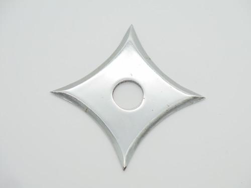 Lot of 2 Vintage 1980s Valor Ninja Seki Japan Tak Fukuta Stainless Steel 4 Point Throwing Star