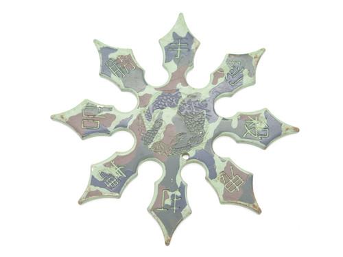 Vintage 1980 Frost Cutlery Shuriken Ninja Seki Japan Tak Fukuta Camo Steel 8 Point Throwing Star