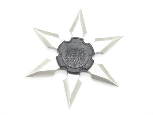 Vtg 1980s Valor Shuriken Dragon Ninja Seki Japan Fukuta Stainless Steel 6 Point Throwing Star