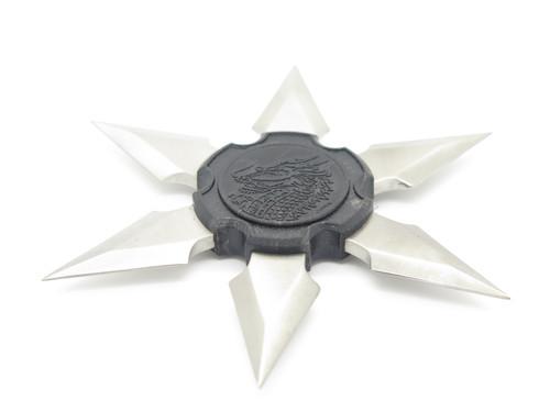 Vtg 1980s Parker Eagle Shuriken Dragon Ninja Seki Japan Tak Fukuta Stainless Steel 6 Point Throwing Star