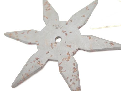 Lot of 2 Vintage 1980 Valor Shuriken Ninja Seki Japan Tak Fukuta Stainless Steel 6 Point Throwing Star