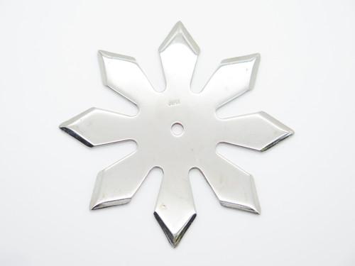 "Vintage 1980 Valor Shuriken Seki Japan Tak Fukuta 4.5"" Stainless Steel 8 Point Ninja Throwing Star"