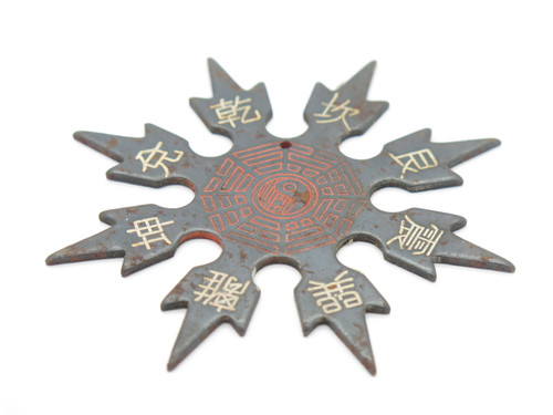 Vintage 1980 Alan Lee Grandmaster Throwing Star Ninja Shuriken Seki Japan Tak Fukuta Black 8 Point