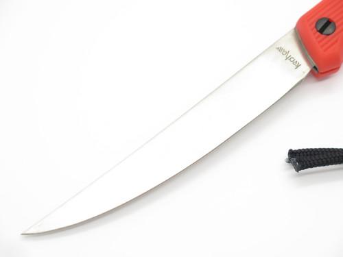 Vintage Kershaw 1244TF Seki Japan Large Orange Fillet Lockback Folding Knife