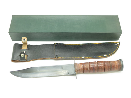 Vtg c. 1970s Valor USN USMC Tak Fukuta Seki Japan Combat Survival Fixed Knife
