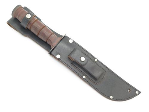 """Vtg c. 1970s Valor USN USMC Tak Fukuta Japan Combat Survival 6"""" Fixed Knife"""