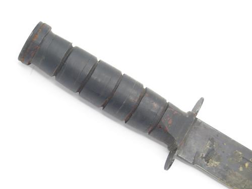 Vtg c. 1970s Valor Black USN USMC Tak Fukuta Japan Combat Survival Fixed Knife