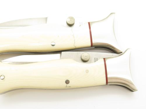 Vtg Boker Magnum Seki Japan Micarta Folding Boot Linerlock Hunter Pocket Knife