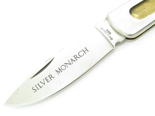 Vtg 1970s C.I. Compass Imai Seki Japan Stainless Knife Making Folding Lockback