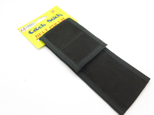 Vtg Lansky Knife Sharpener Crock Stick Black Nylon Pouch Sheath USA