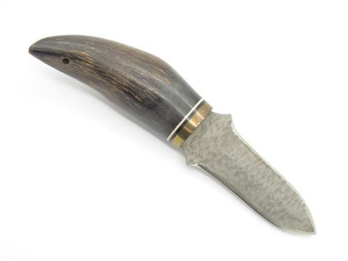 Vtg United Virginia Seki Japan Chip Flint Buffalo Horn Fixed Dagger Knife