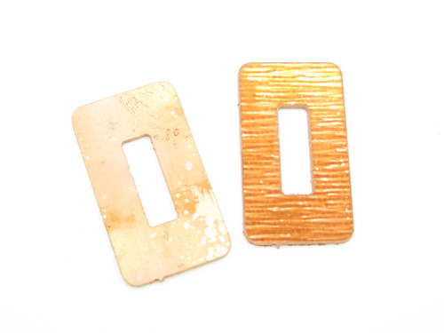 Lot of 2 - USA 0.040 Copper Spacer Fixed Blade Knife Handle Making Part