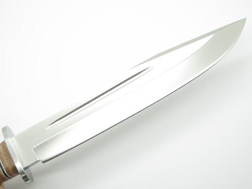 Hattori 160-2 Hunter II Leather Seki Japan AUS-8 Fixed Blade Bowie Hunting Knife