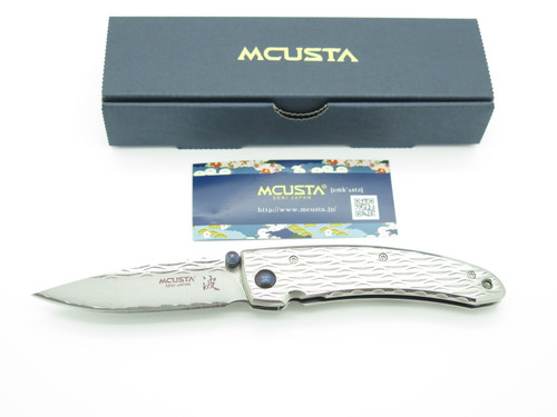 Mcusta Seki Japan Nami MC-0111D VG-10 Damascus Framelock Folding Pocket Knife