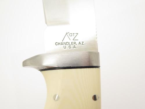 """Katz 103 Micarta Seki Japan 4.75"""" Stainless XT80 Fixed Skinner Hunting Knife"""